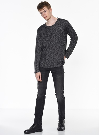 Lee&Wrangler Lee & Wrangler L82Mps01 Pocket Sweatshirt Siyah